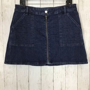 Madewell Denim Jean Mini Skirt A Line Stretch Blue